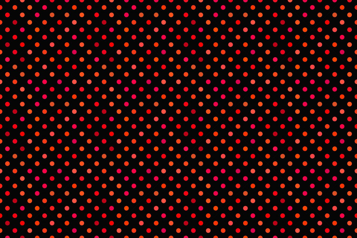 24 Seamless Red Dot Patterns example image 10