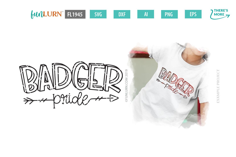 Badger Pride Team SVG Cut File example image 1