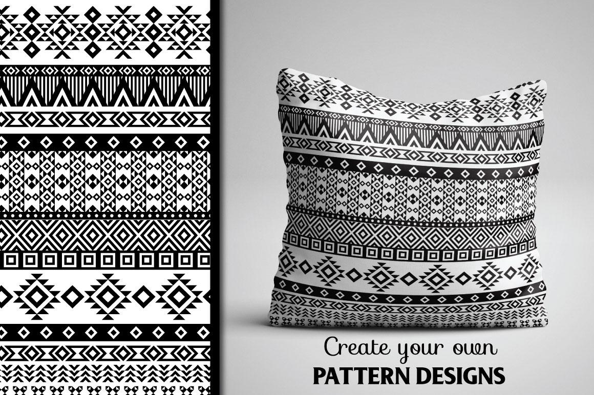 80 Tribal Pattern Brushes for Adobe Illustrator example image 5