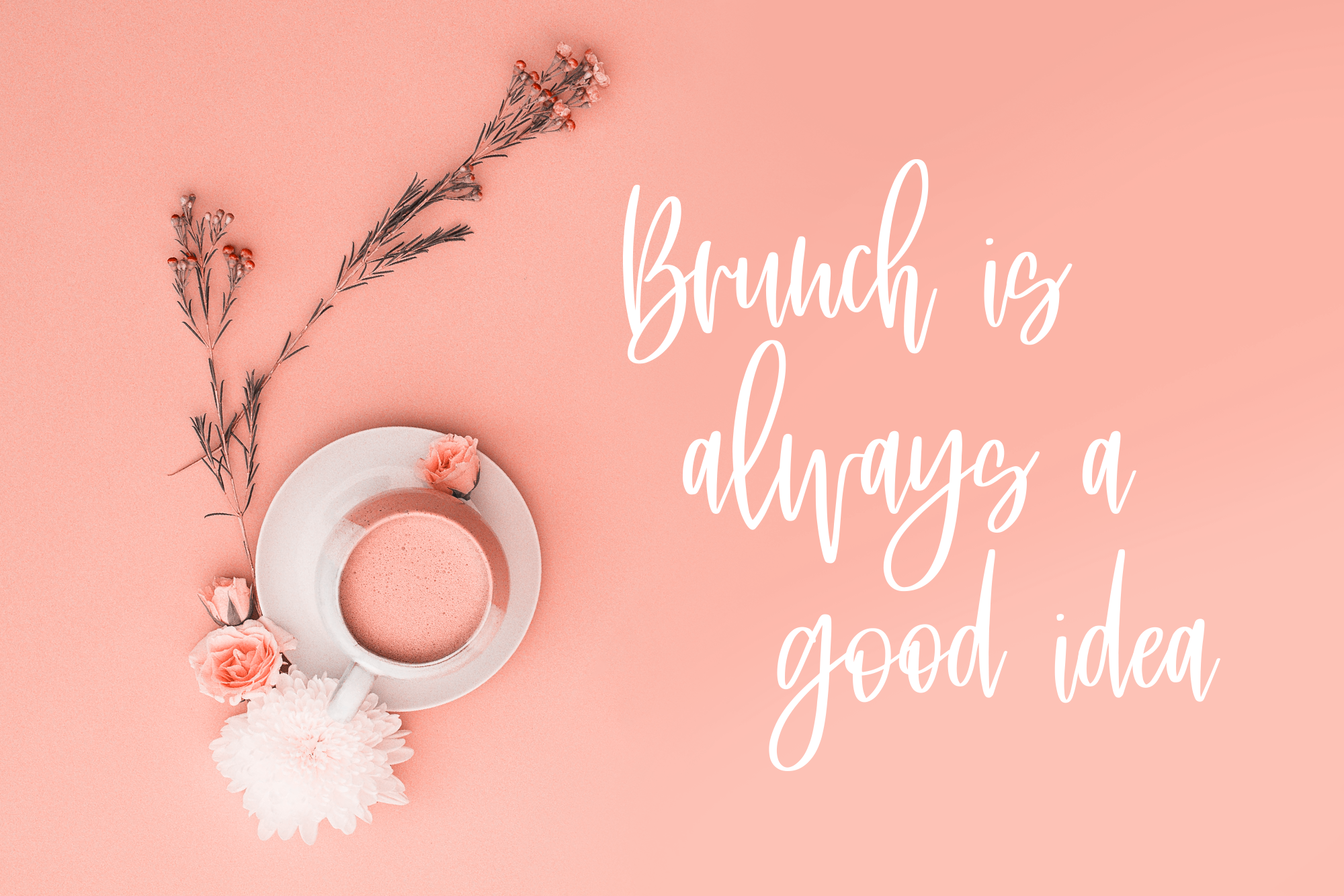 Saturday Brunch, a tight tall script font example image 7