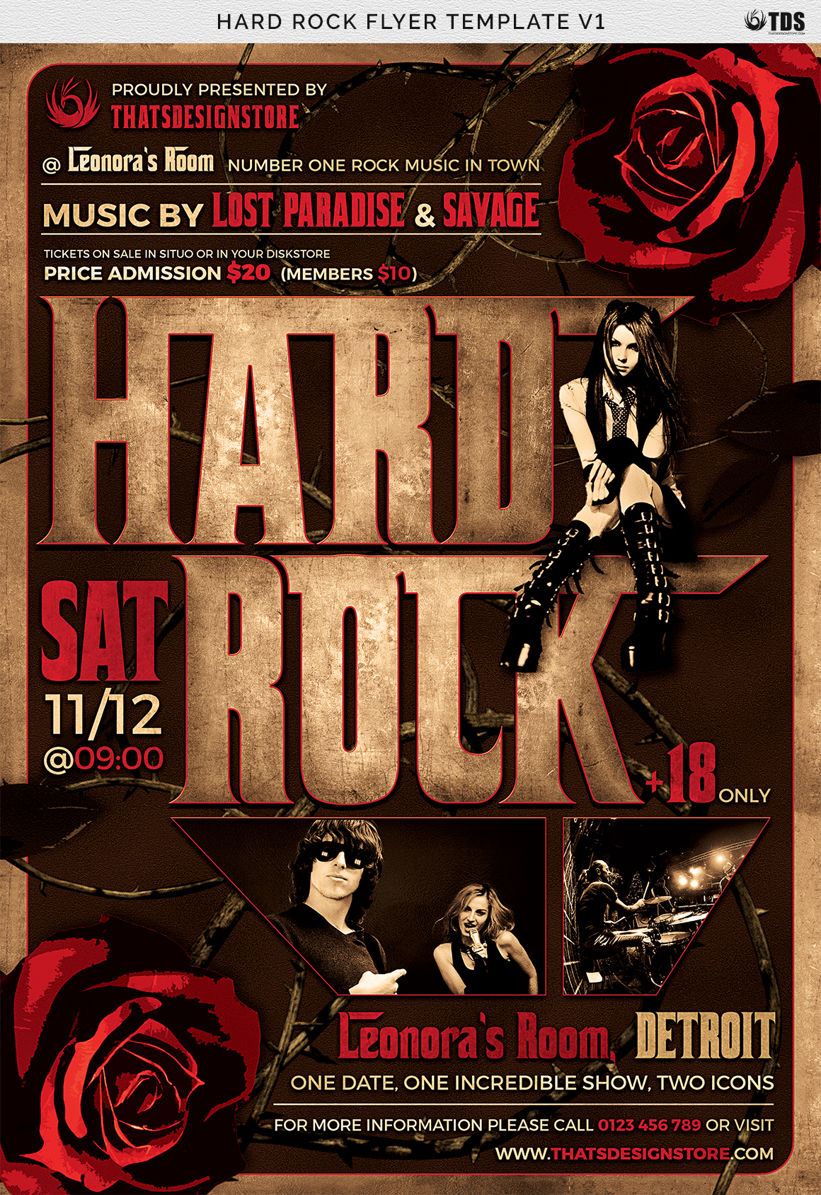 Hard Rock Flyer Template V1 example image 6