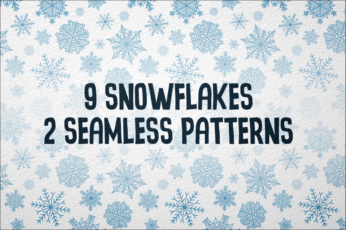 9 Snowflakes example image 3