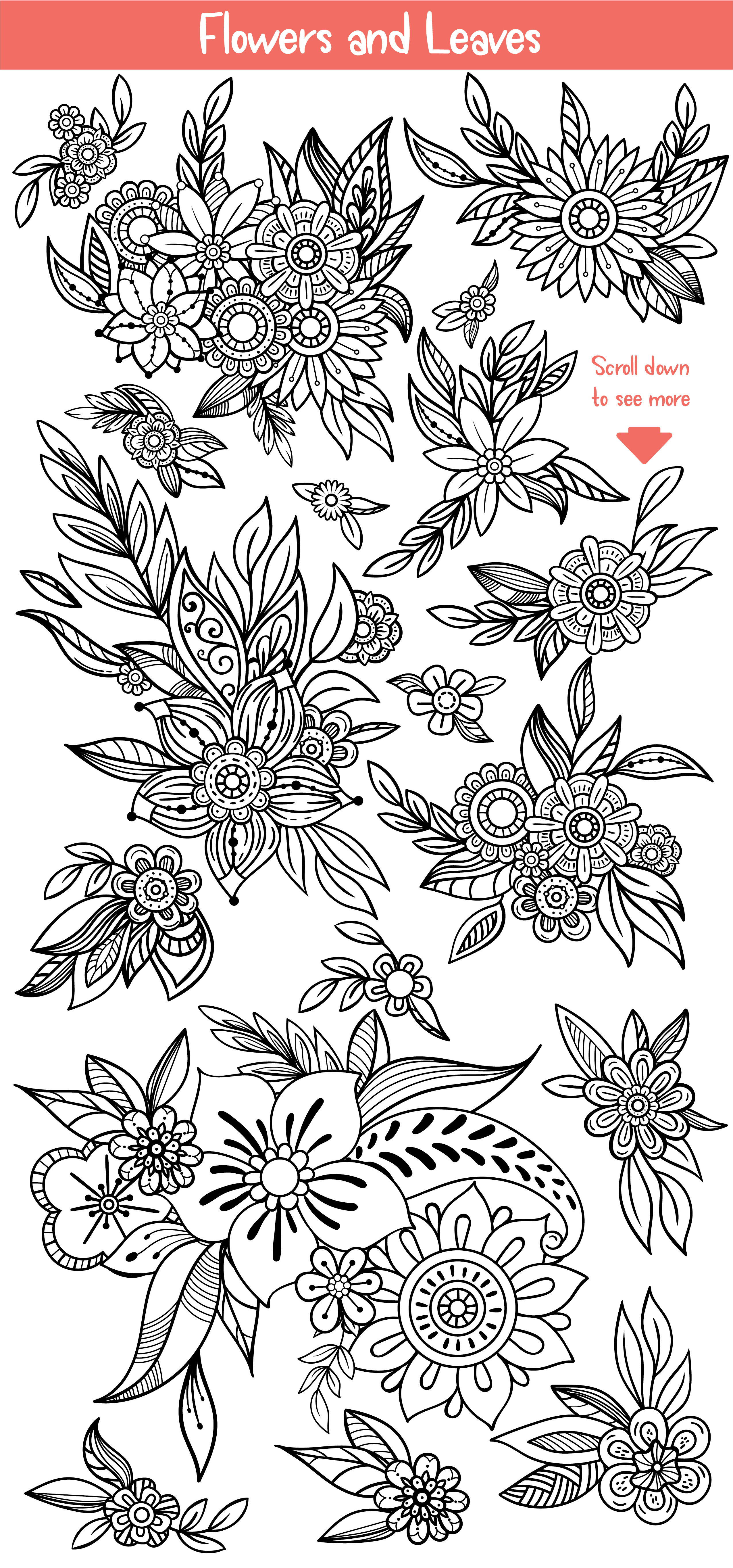 Floral Doodles Collection example image 4
