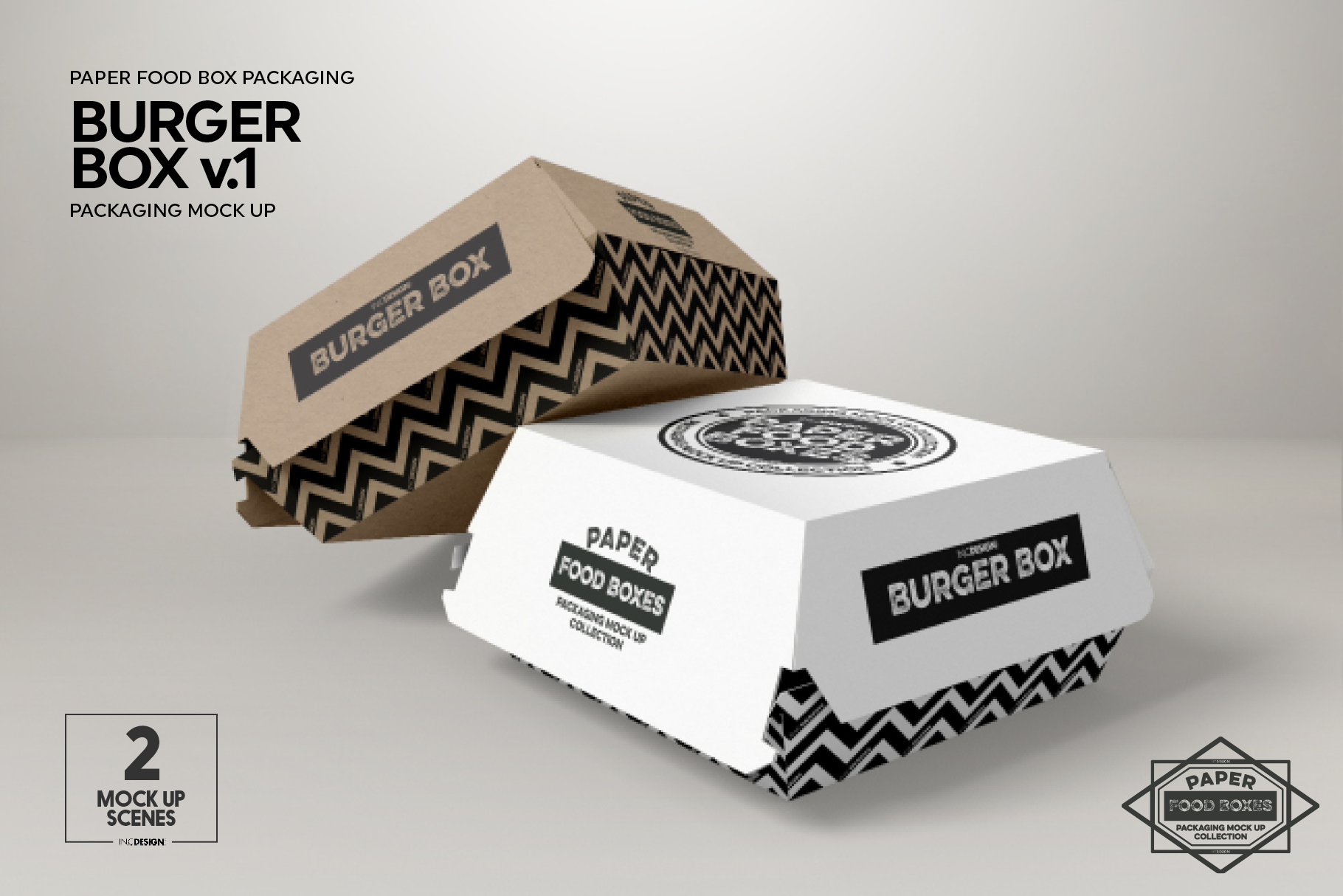 Burger Box Packaging Mock Up v1 example image 5