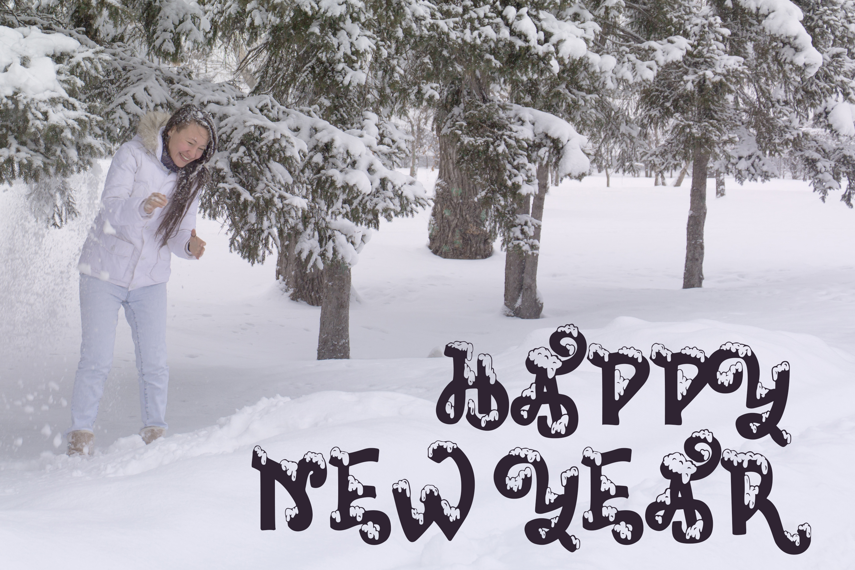 Snow-covered display font example image 4