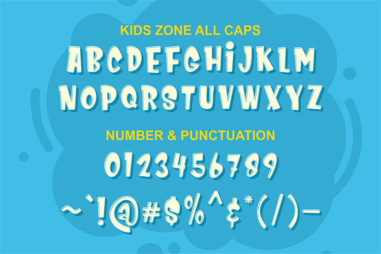 Kids Zone // Layered Font example image 8