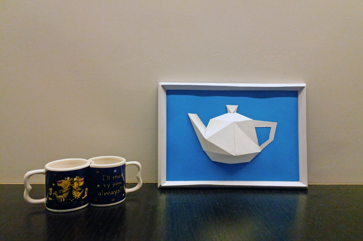 DIY Kettle Frame - 3d papercraft example image 2