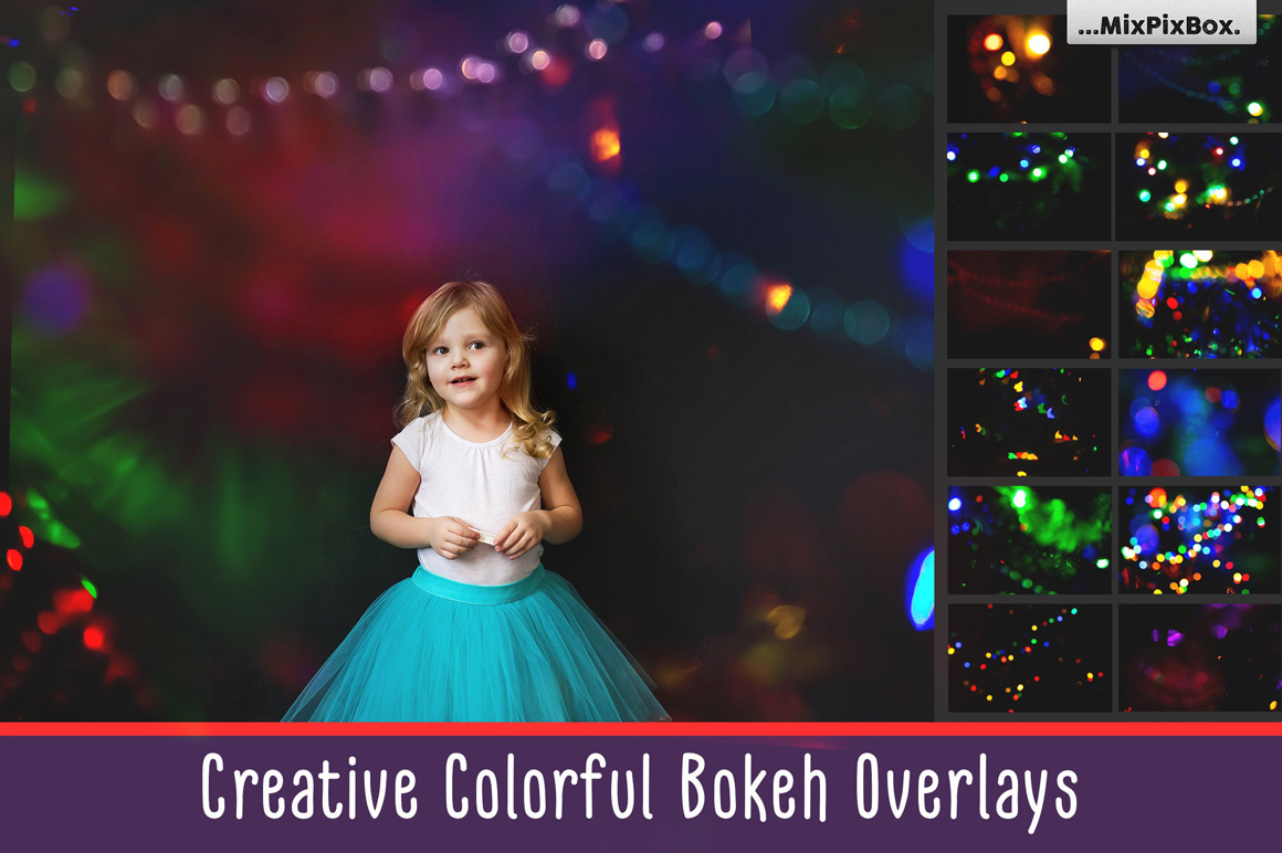 Colorful Bokeh Photo Overlays example image 1