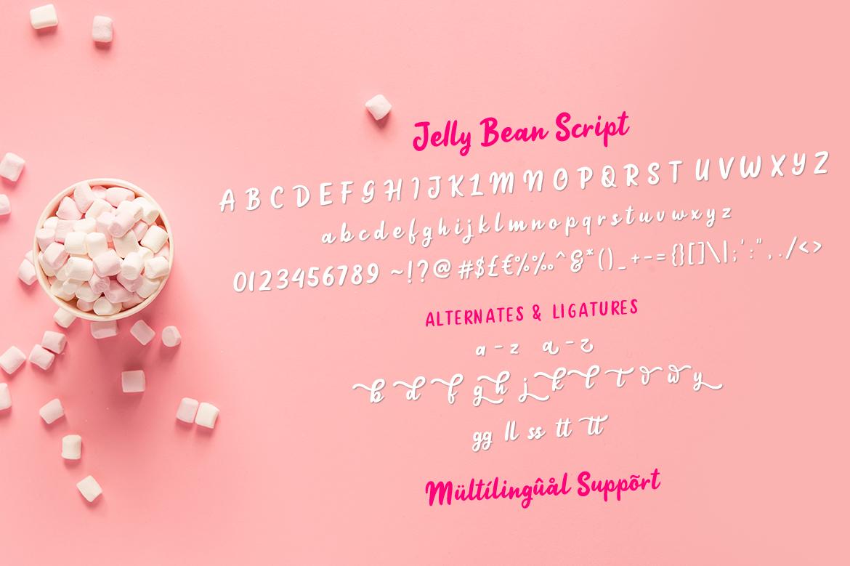 Jellly Bean Script & Sans Fun Font example image 9