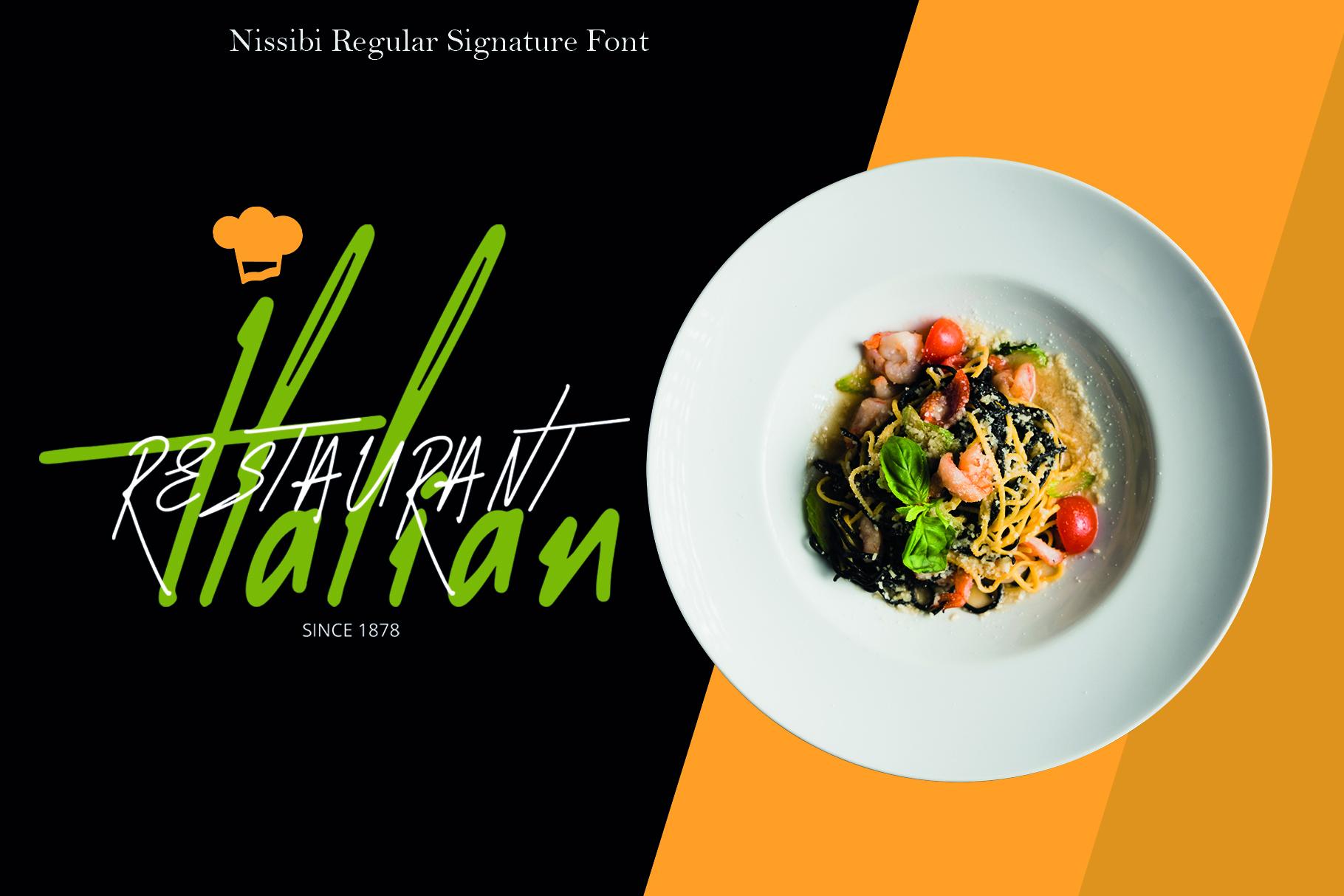 Nissibi Regular Signature Font example image 5