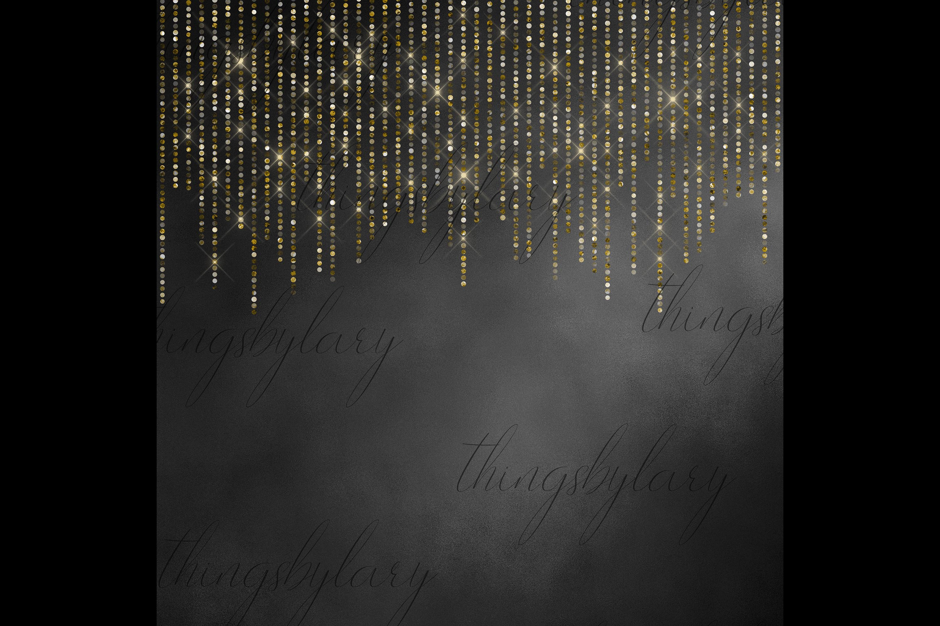 100 Shimmering Glitter Curtain Border Overlay Digital Images example image 3
