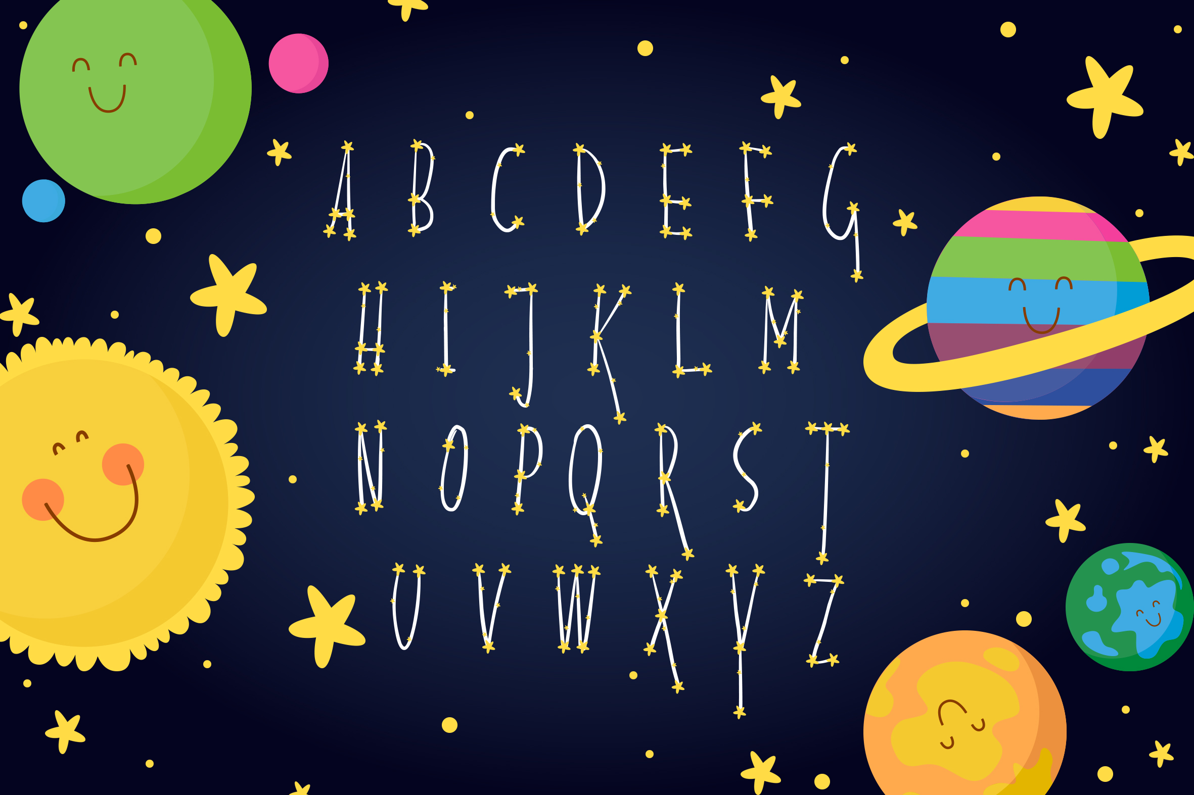 alphabet constellation space example image 2