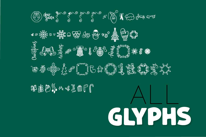 Christmas Dingbats - A Christmas Doodle Font! example image 4
