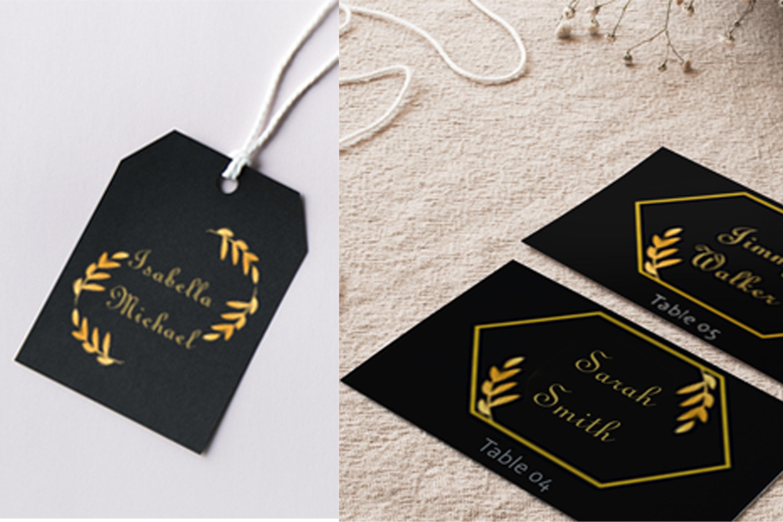 Elegant Golden Leaf Wedding Invitation Kit example image 5
