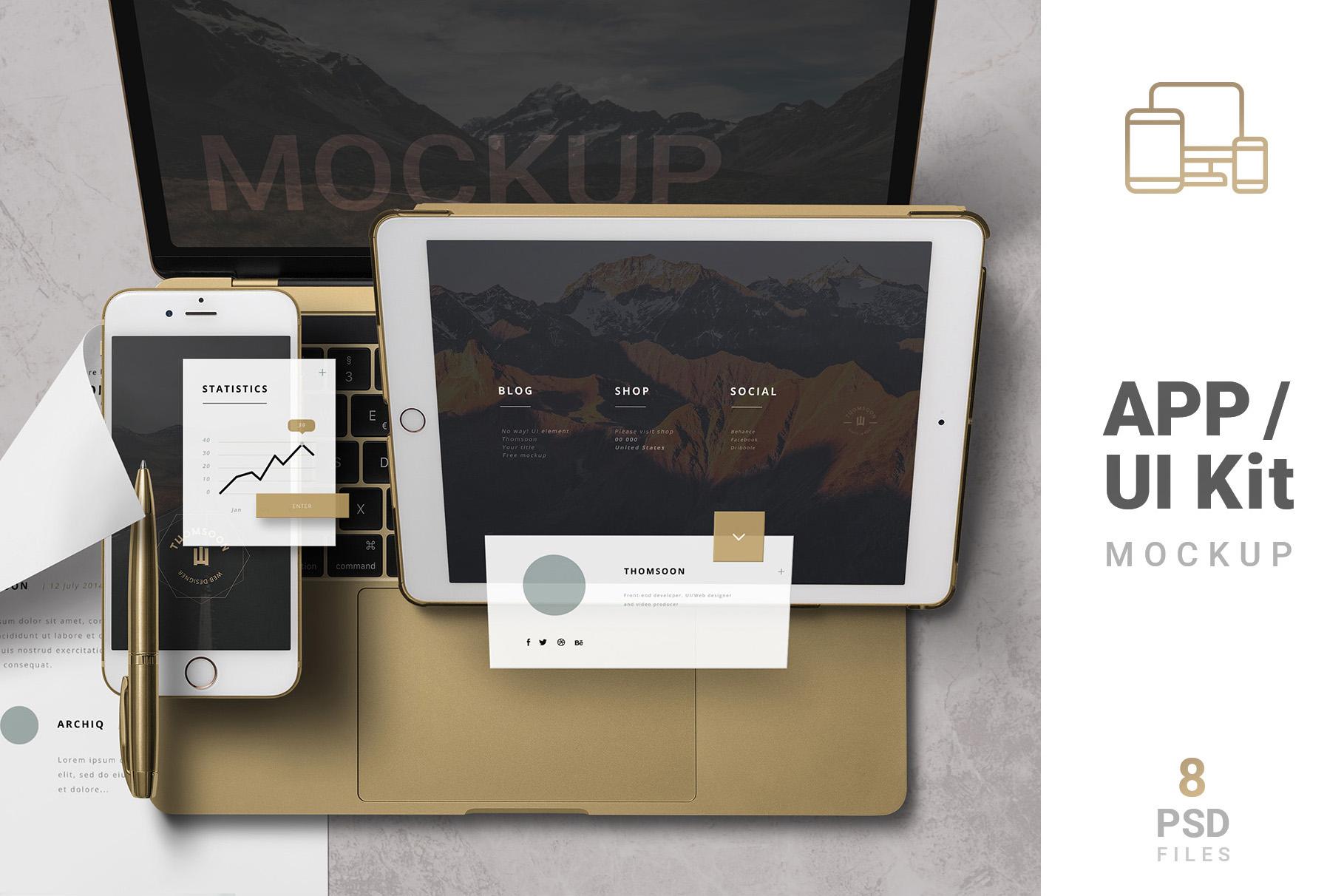 App / UI Kit Mockups example image 1