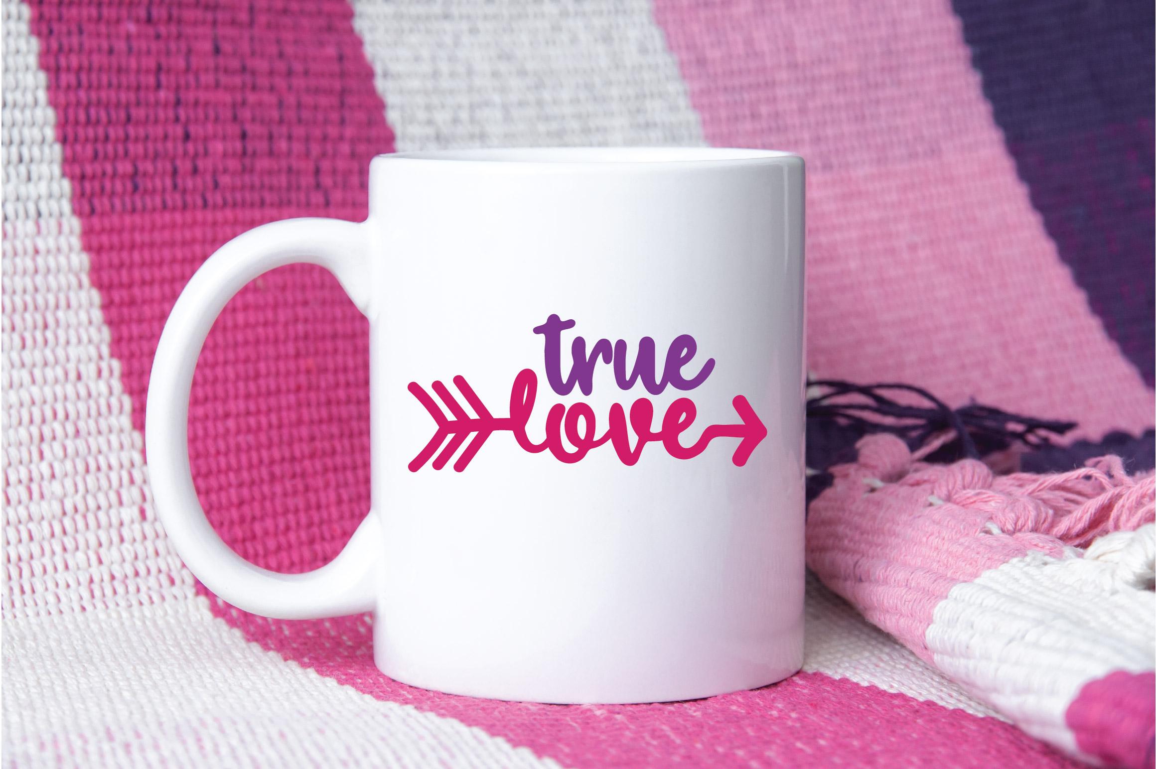 True Love SVG Cut File - Valentine SVG EPS DXF PNG PDF AI example image 3