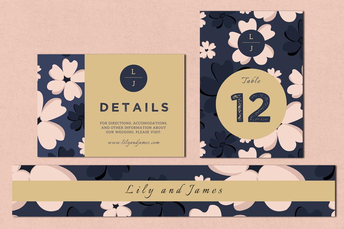 Bloomy - Wedding Invitation Suite example image 3