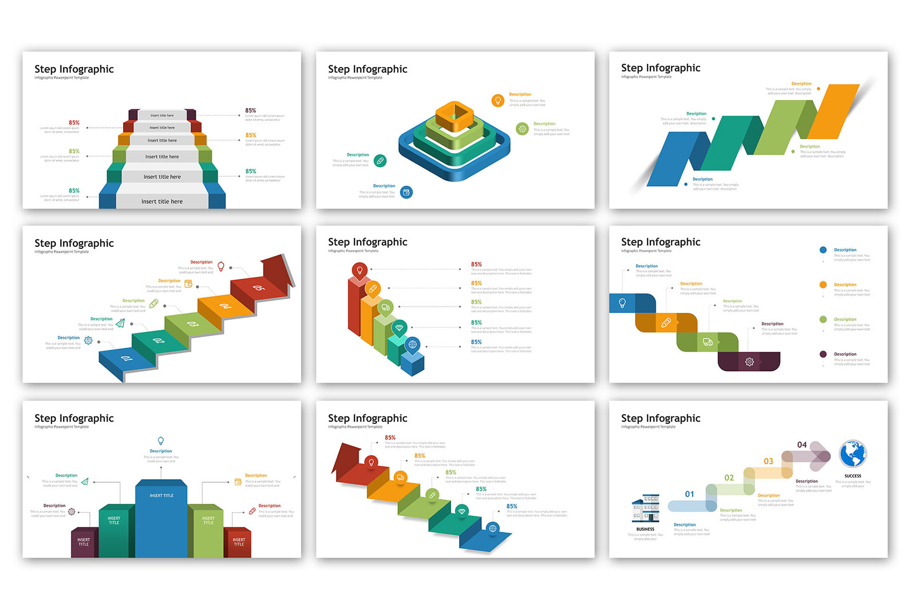 Step Presentation - Infographic Template example image 2