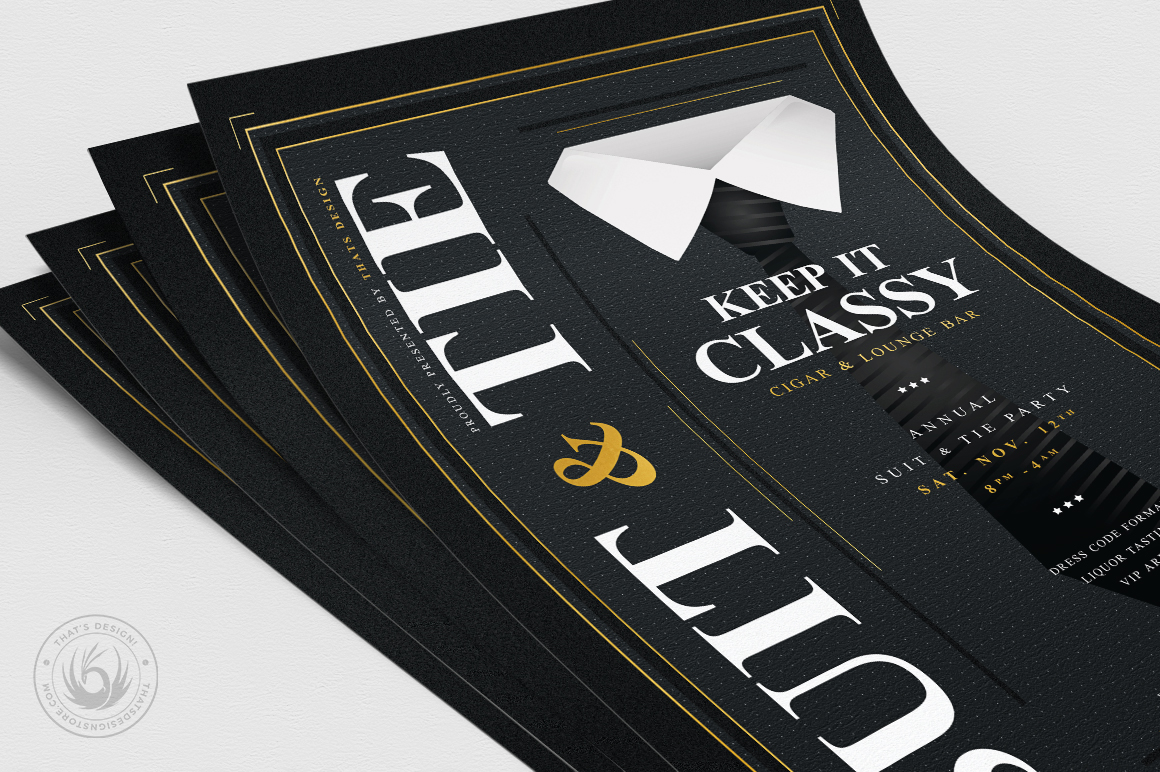 Suit and Tie Flyer Template V4 example image 5