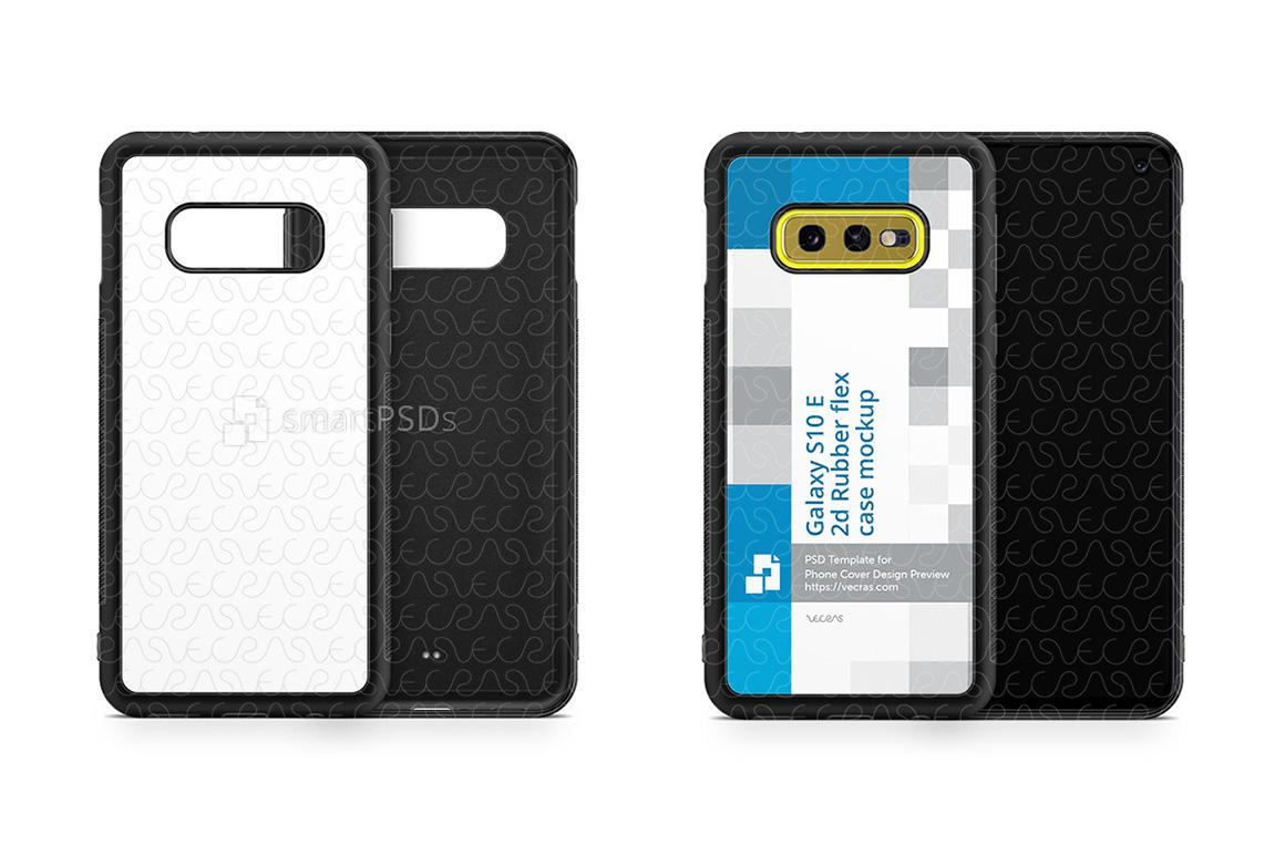 Samsung Galaxy S10 E 2d RubberFlex Case Design Mockup 2019 example image 1