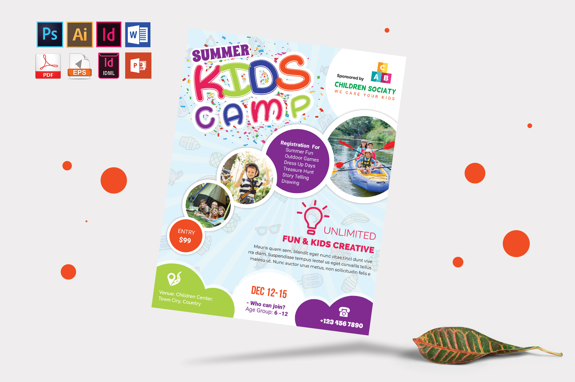 Kids Summer Camp Flyer Vol-06 example image 4