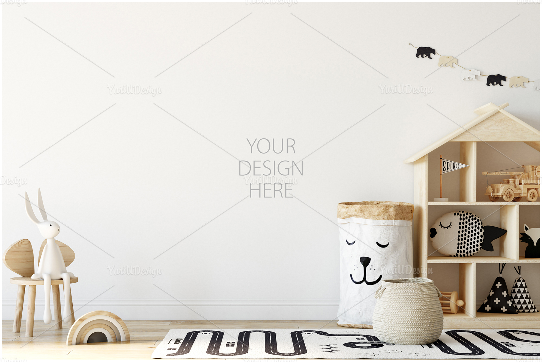 Kids Frames & Wall Mockup Bundle - 5 example image 9