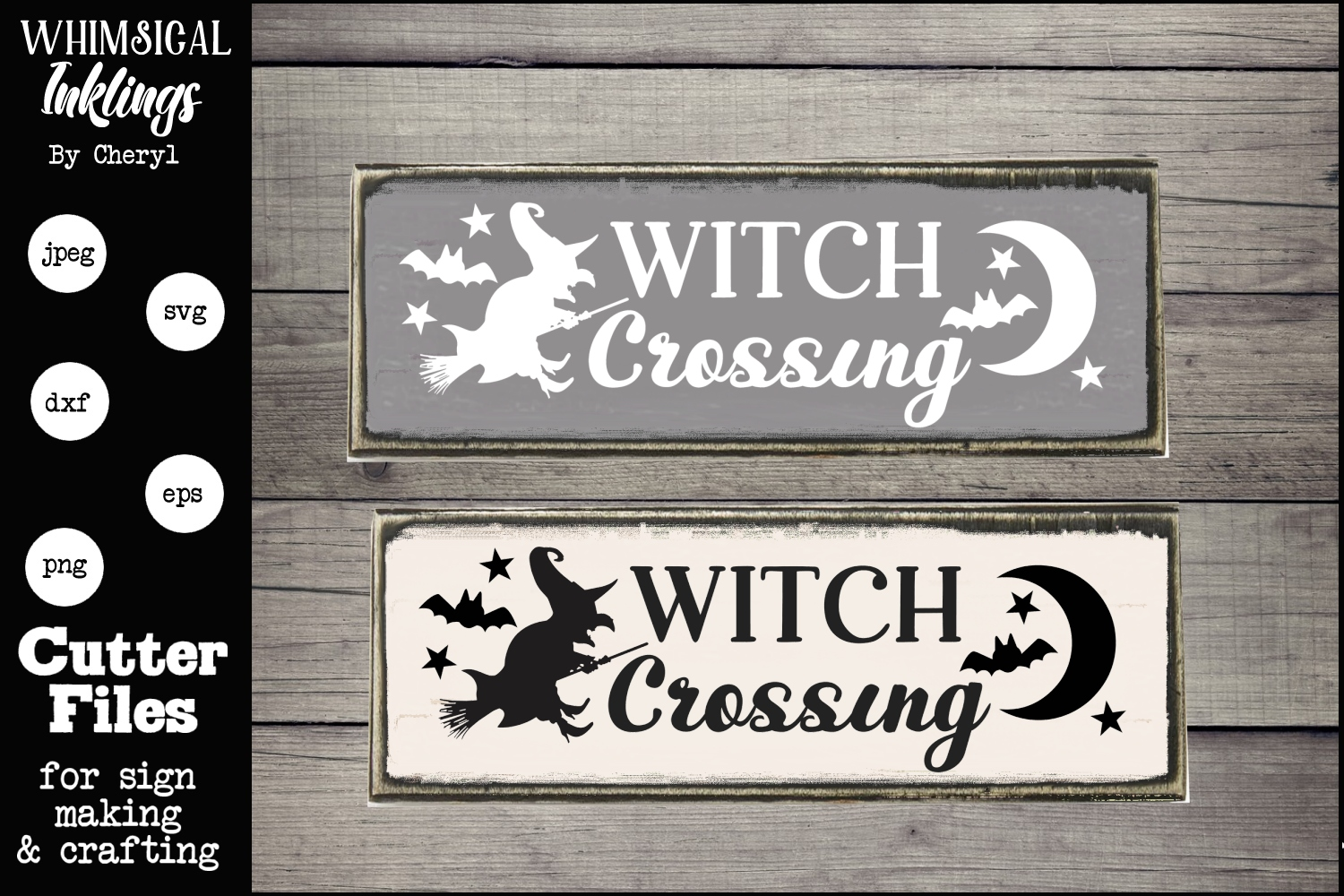 Witch Crossing-Halloween SVG example image 1