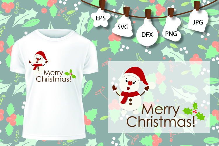 Snowman SVG , Christmas Shirt SVG , Winter Wonderland Svg example image 1