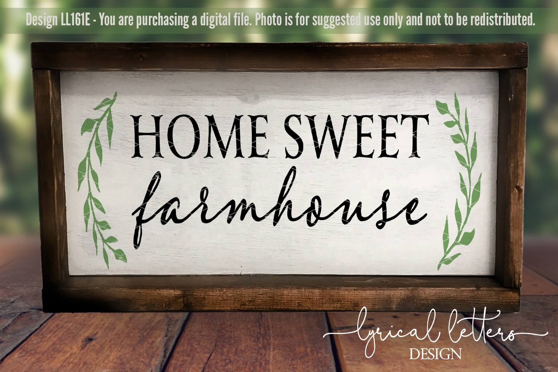 Home Sweet Farmhouse SVG Cut File LL161E example image 2