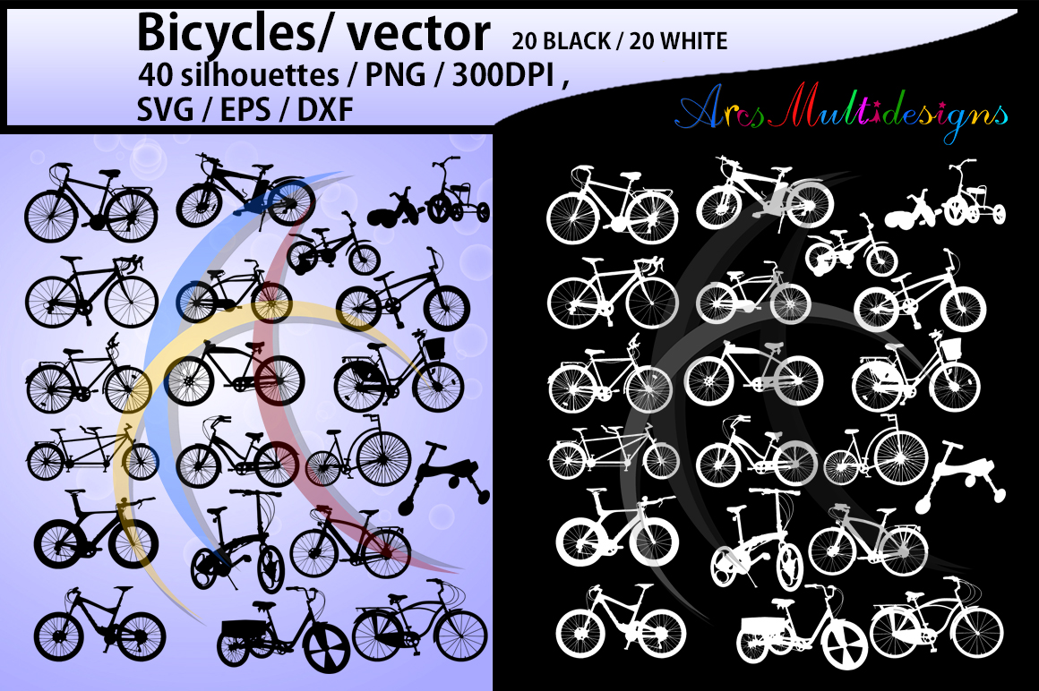 bicycle silhouette svg / Bicycles / bicycle / bicycle riders / riders silhouette/ vector / bike rider / SVG / PNG / Dxf / cut file example image 1