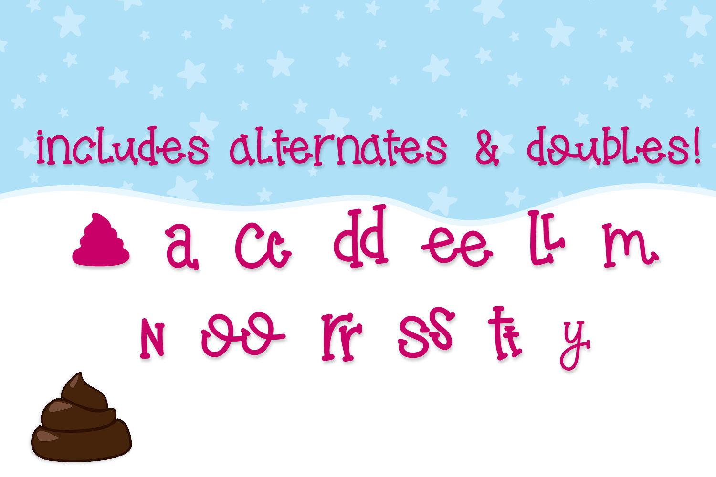 Penguin Poop, A fun Handwritten font example image 5