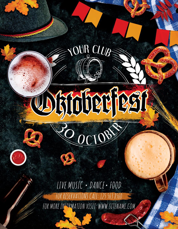 Oktoberfest Octoberfest Festival Flyer example image 3