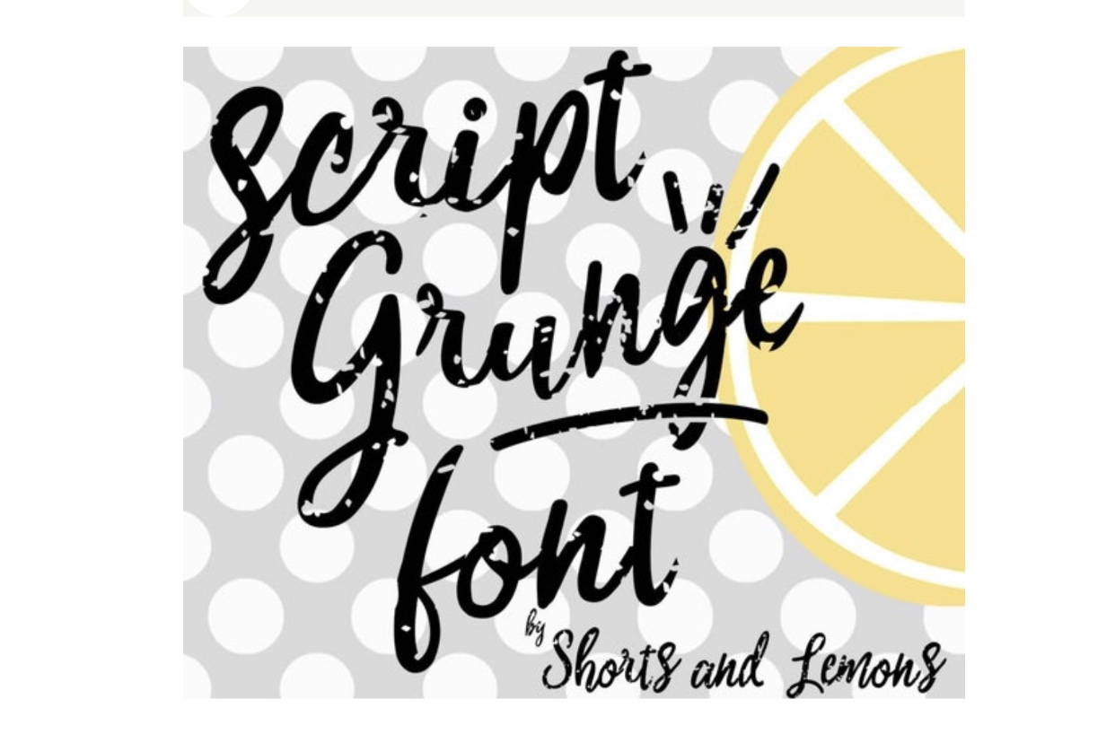 Script Grunge Font with SVG files and OTF example image 2