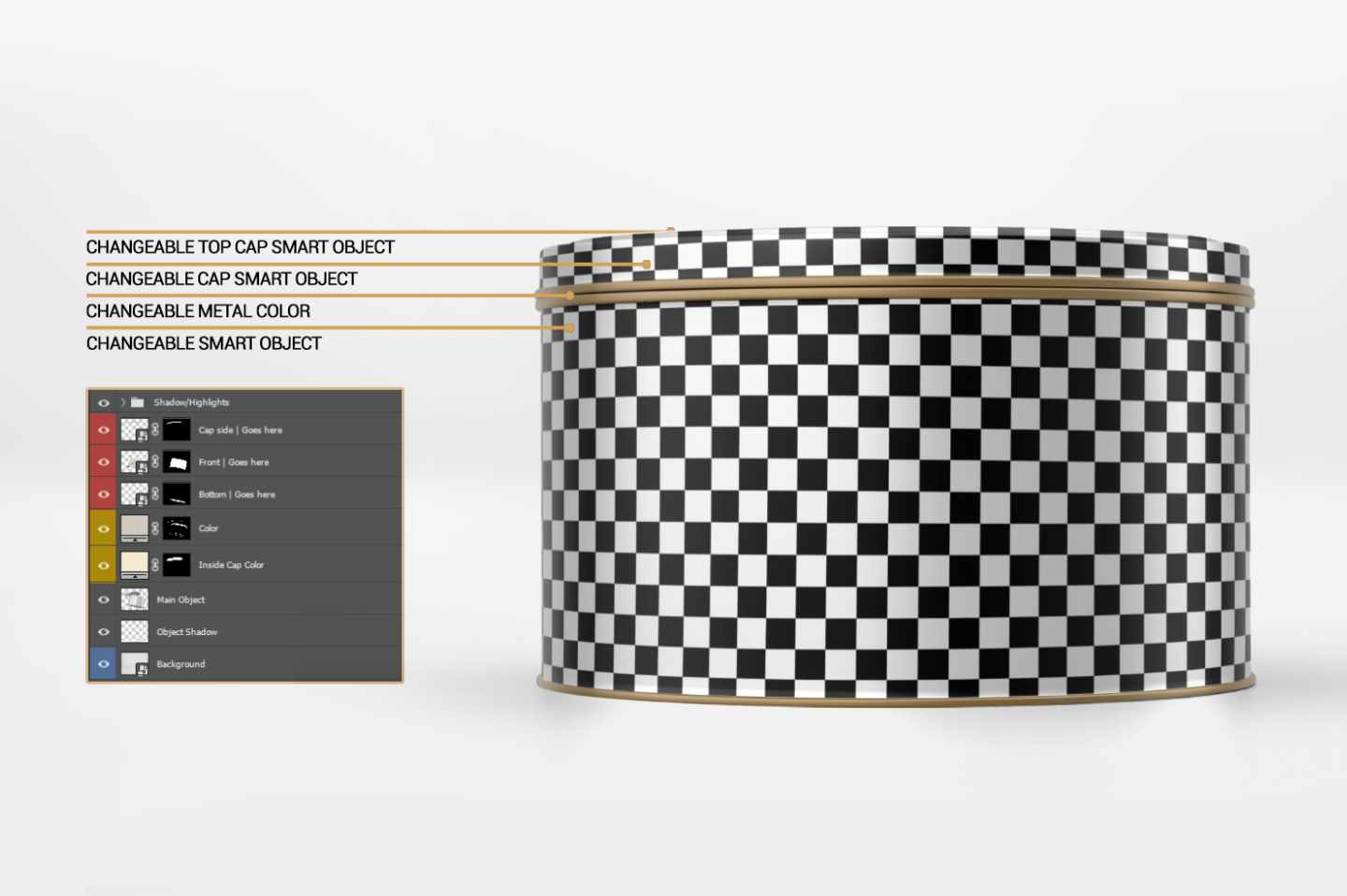 Round Tin Can Mockup example image 12
