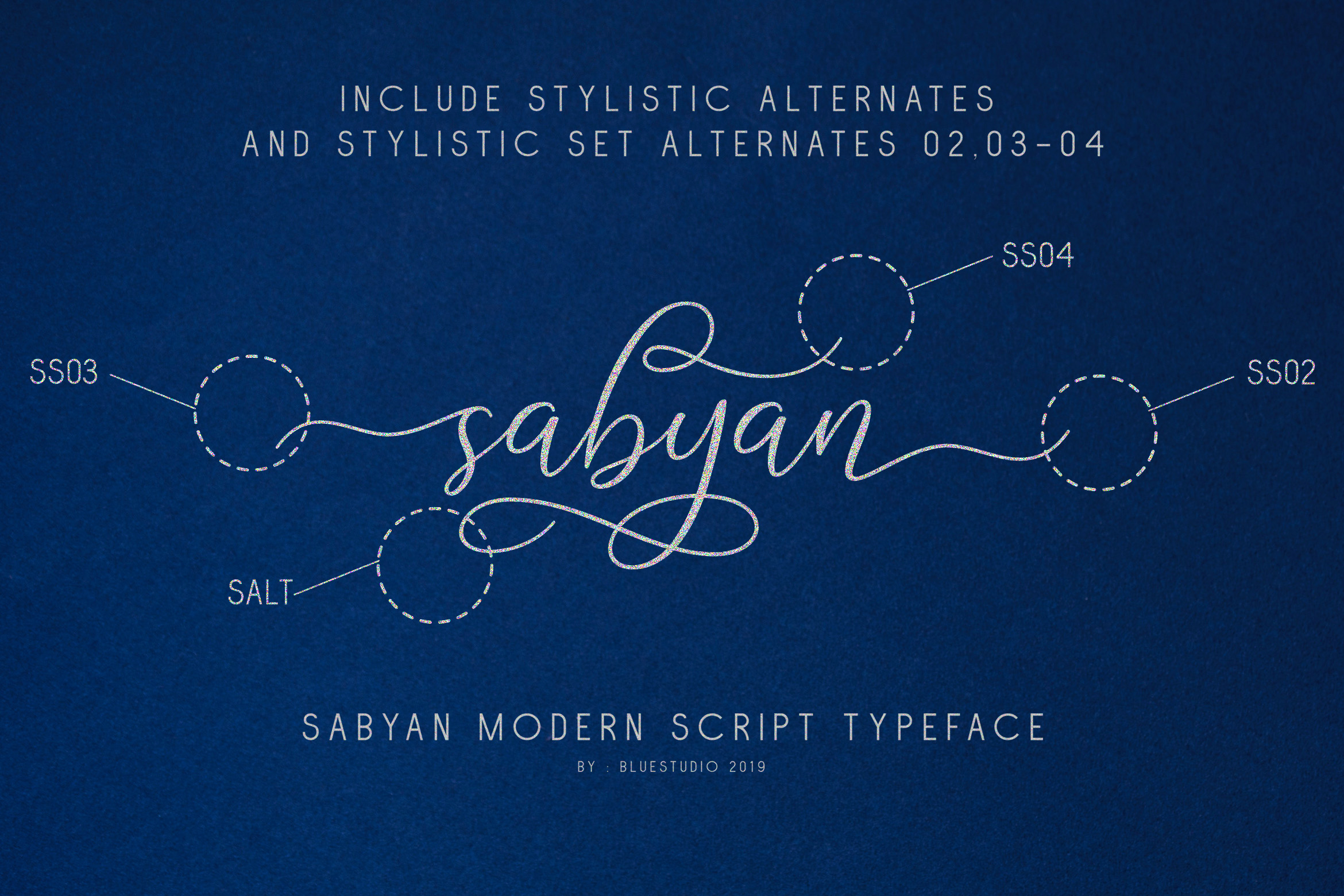 Sabyan // Modern Script Typeface example image 5