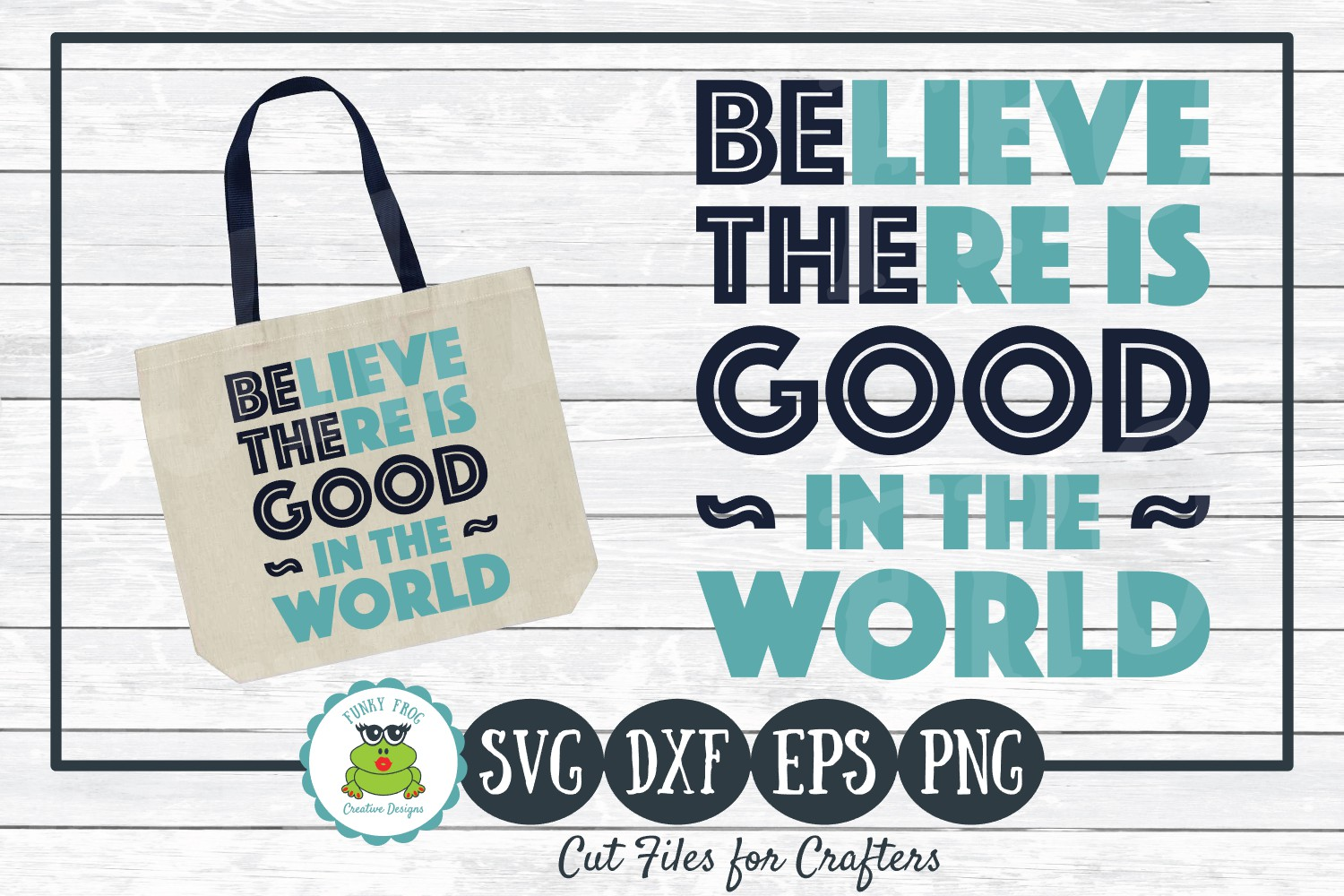 Be The Good- Inspirational SVG Cut File for Crafters example image 1