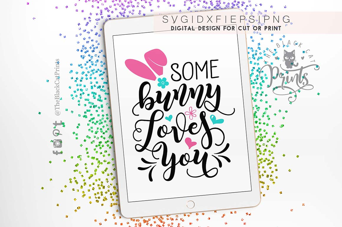 Some bunny loves you SVG DXF PNG EPS example image 5