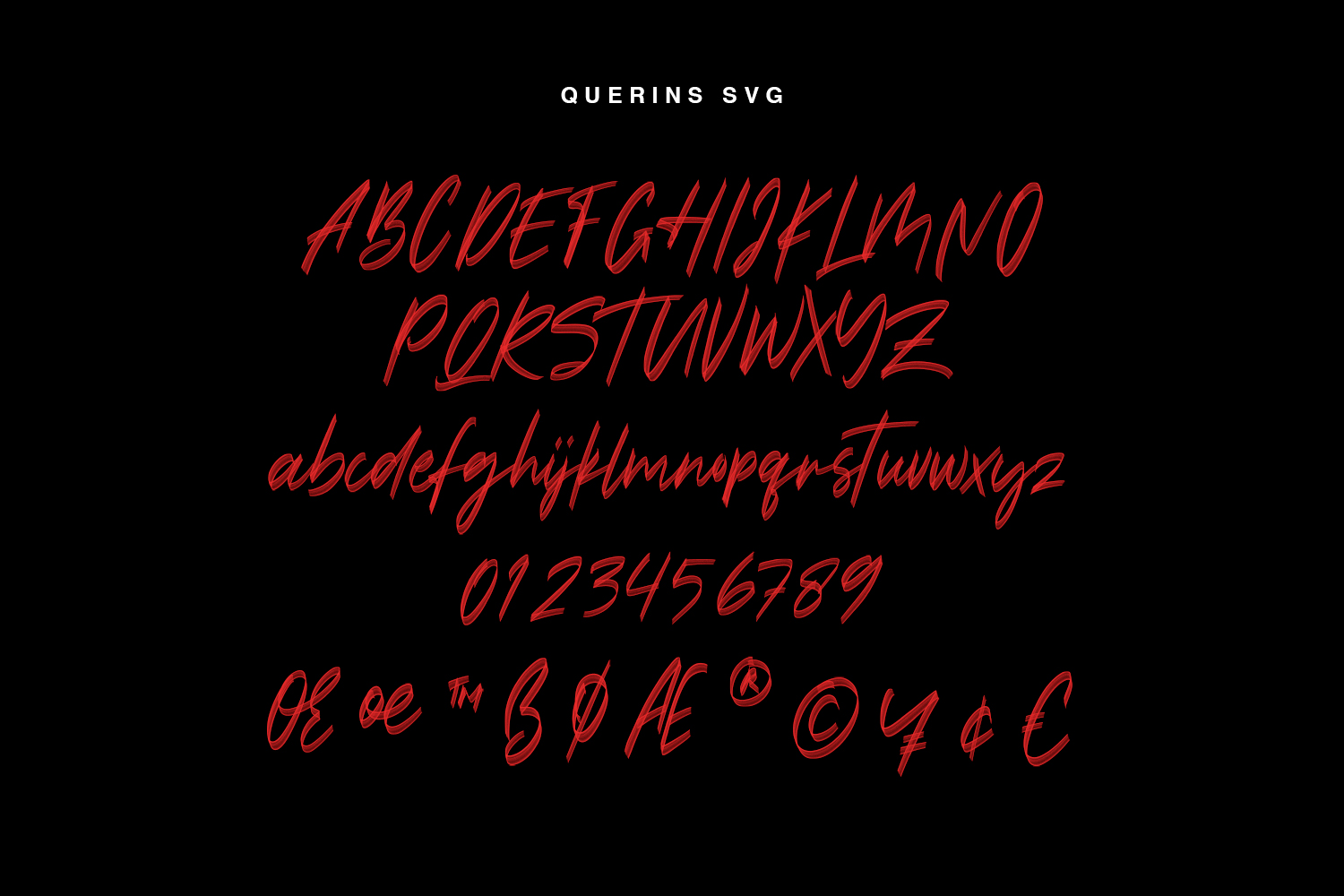 Querins SVG Brush Font example image 7