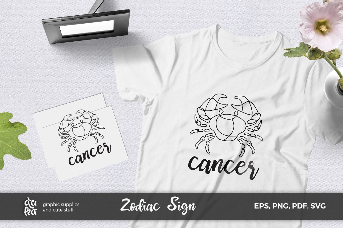 Zodiac Sign SVG Cut Files- Cancer example image 1