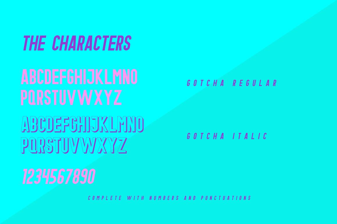 Gotcha Typeface example image 3