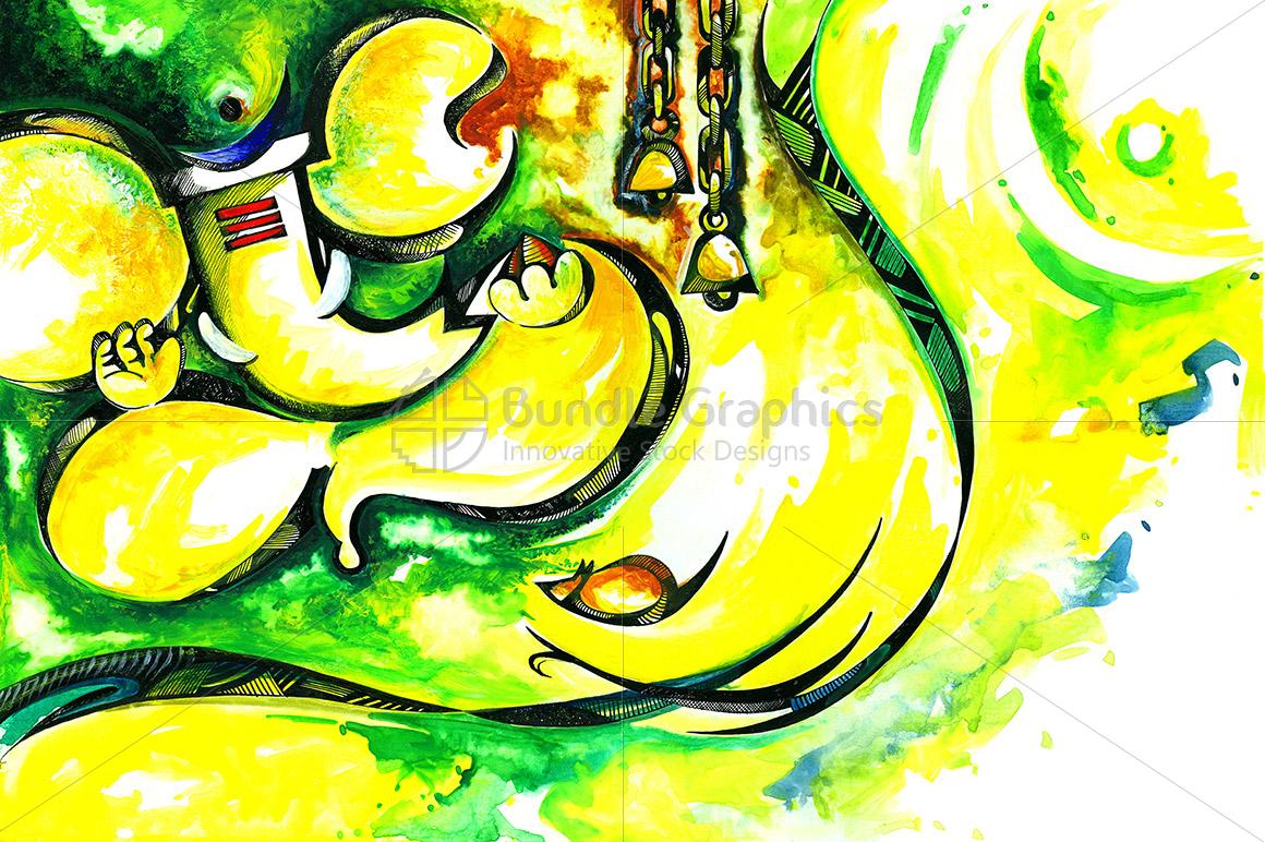 Lord Ganesha - Abstract Painting example image 1