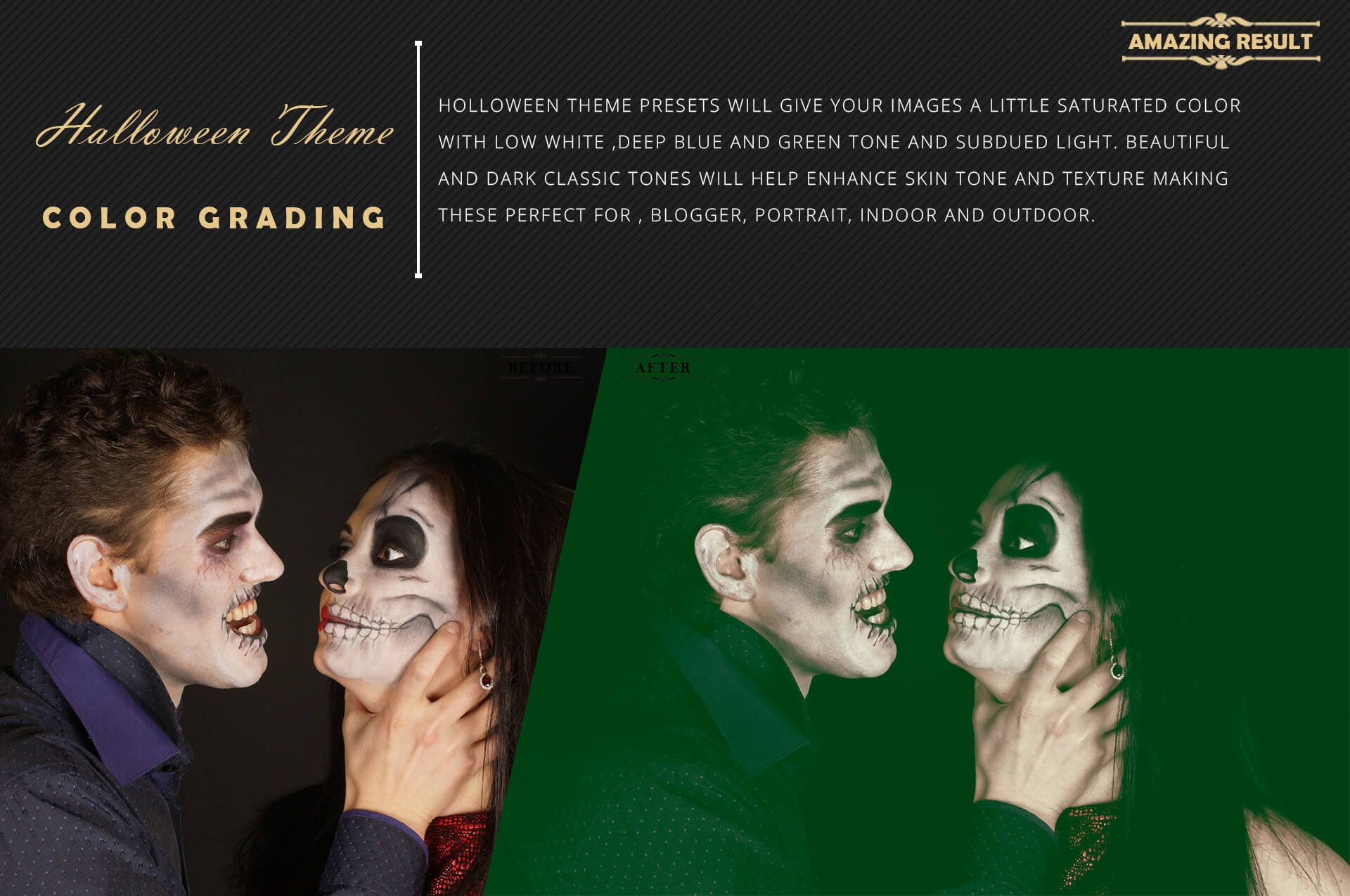 Halloween Theme Collection Color Grading Lightroom presets example image 4