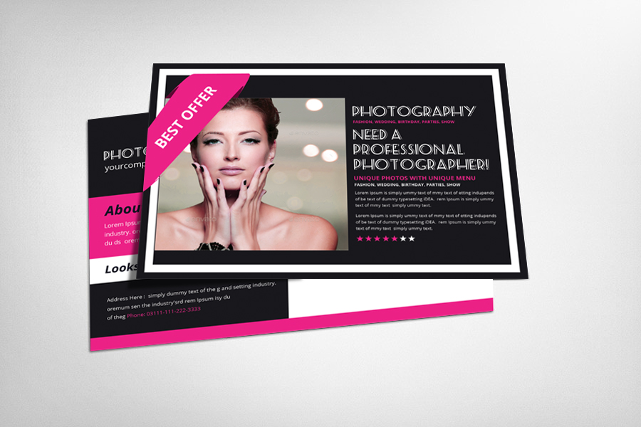 Photography Postcard Template example image 1