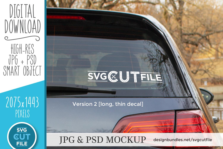 Car decal mockup, vinyl decal mock up, car sticker psd file example image 2