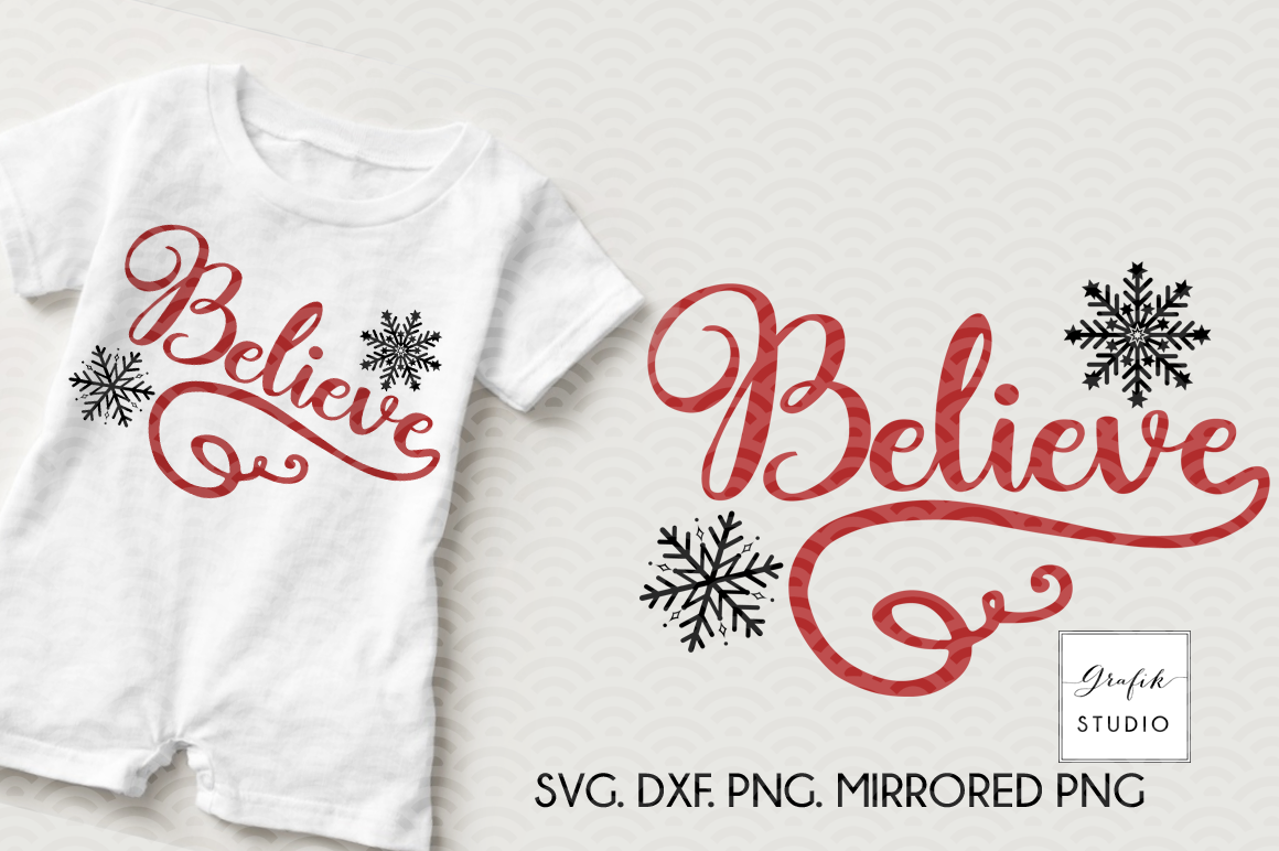 Download Believe Christmas holiday SVG File, SVG CUT files, CUT ...