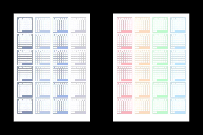 Calendar Habit Tracker Stickers example image 3