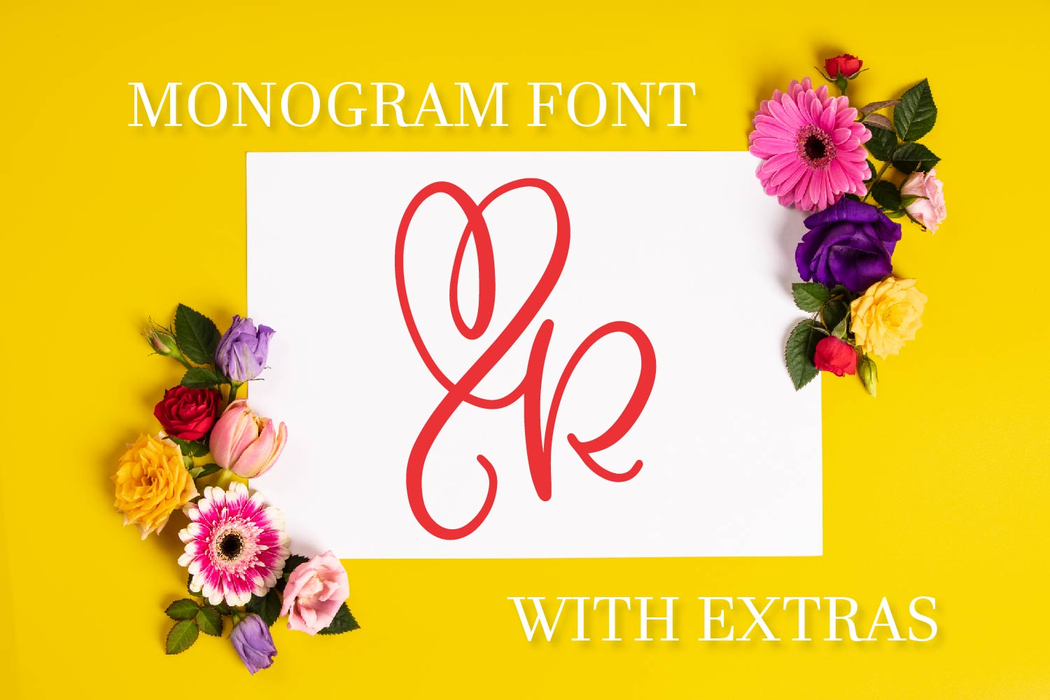 CLN - Monohearts - A Monogram Heart Font with Extra Doodles example image 1