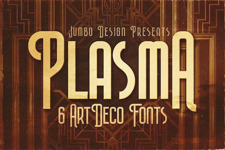 Plasma - ArtDeco Style Font example image 1