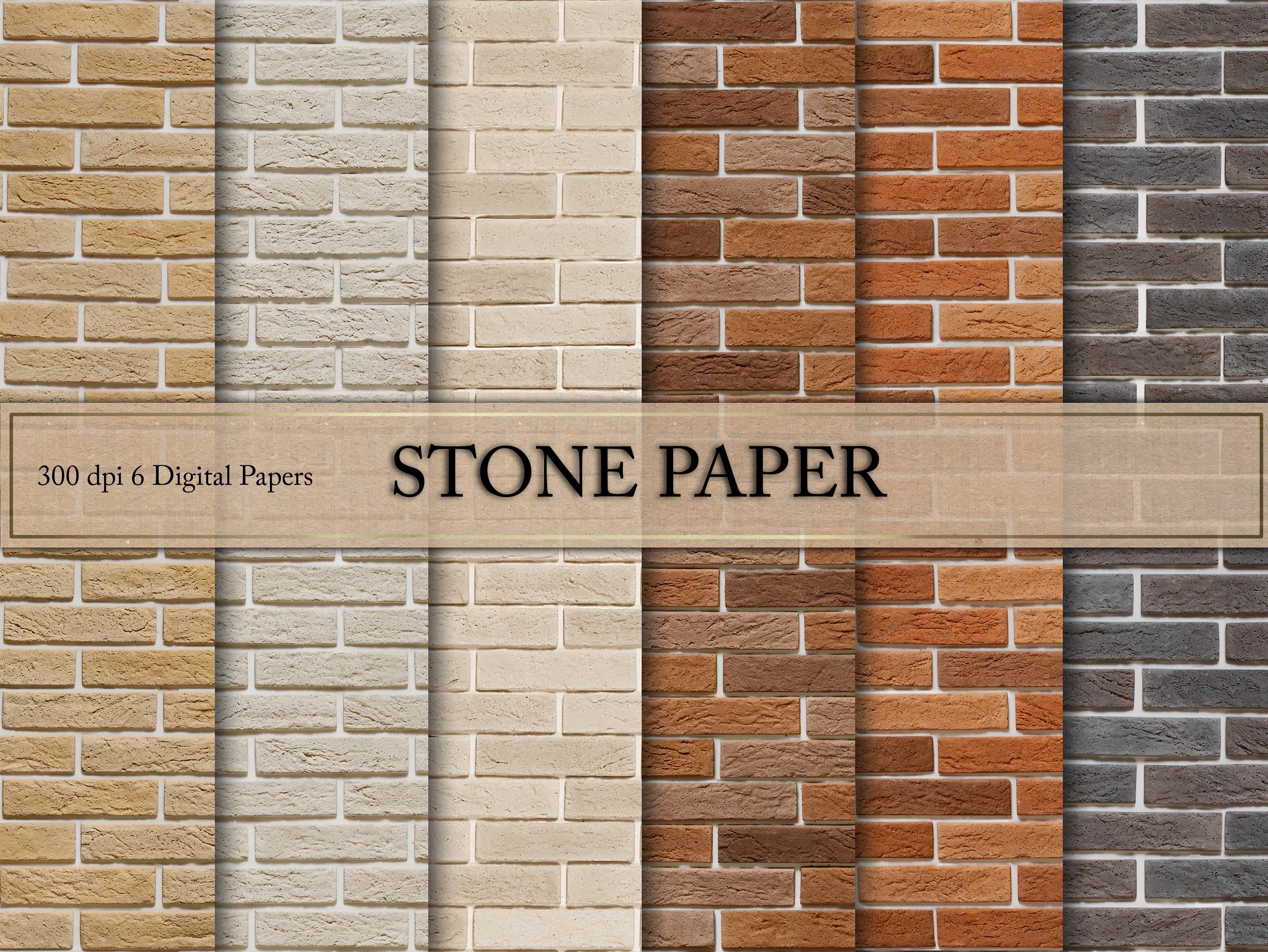 Seamless Brick Digital Paper example image 1