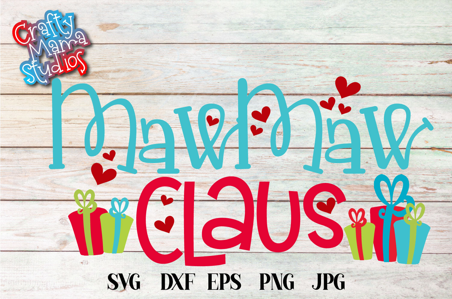 Christmas SVG, MawMaw Claus, Santa Claus Sublimation example image 3